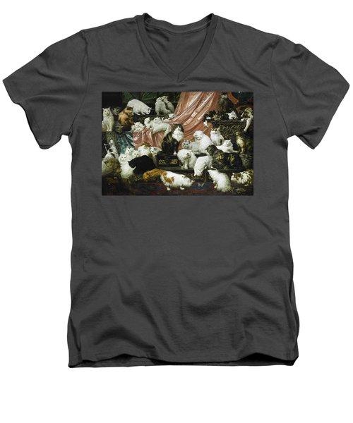 My Wife's Lovers Men's V-Neck T-Shirt by Carl Kahler