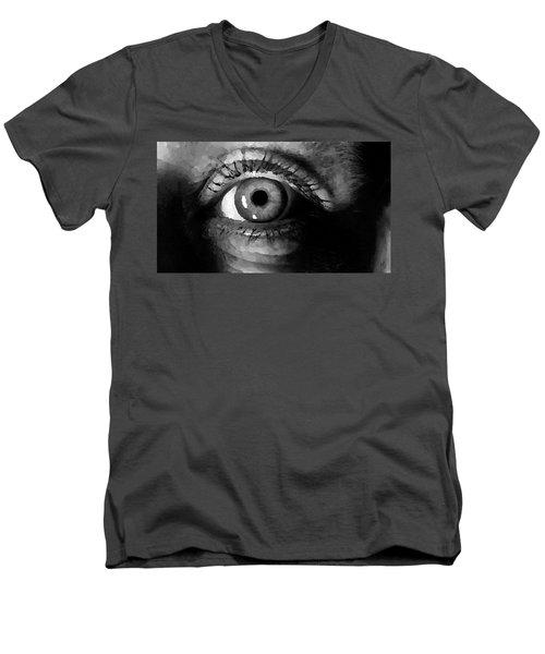 My Window In Bw Men's V-Neck T-Shirt