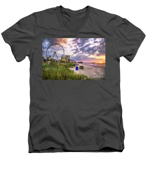 Myrtle Beach Sunrise Men's V-Neck T-Shirt