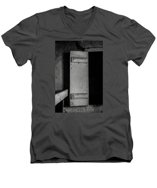 Mysterious Attic Door  Men's V-Neck T-Shirt by Off The Beaten Path Photography - Andrew Alexander