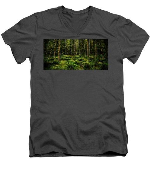 Mysterious Forest Men's V-Neck T-Shirt
