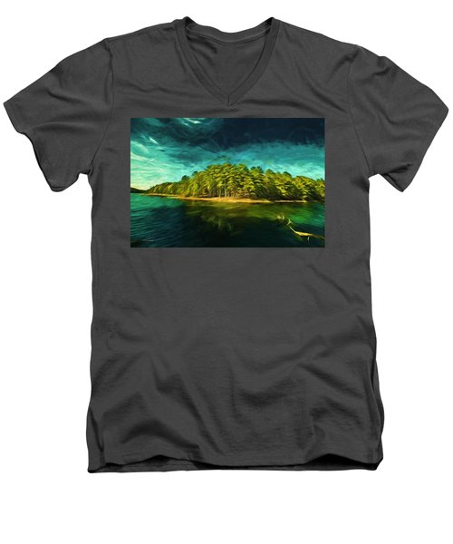 Mysterious Isle Men's V-Neck T-Shirt