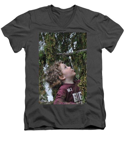 Mysterious Tree Men's V-Neck T-Shirt