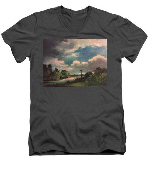 Mystery Of God  The Eye Of God Men's V-Neck T-Shirt by Randy Burns