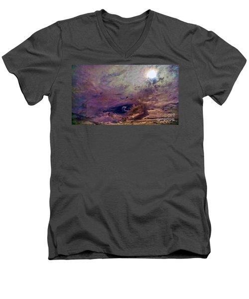 Mystery Sky Men's V-Neck T-Shirt