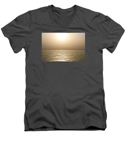 Mystery Sandstorm Sunset- The Red Sea Men's V-Neck T-Shirt