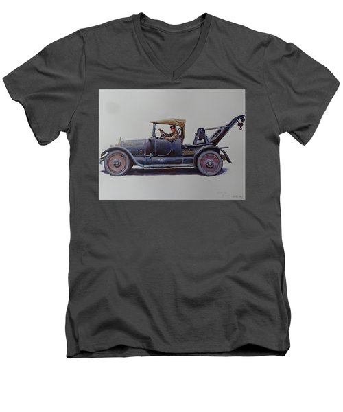 Mystery Wrecker 1930. Men's V-Neck T-Shirt by Mike  Jeffries