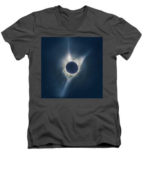 Mystic Eclipse  Men's V-Neck T-Shirt