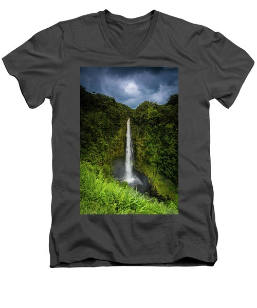 Mystic Waterfall Men's V-Neck T-Shirt