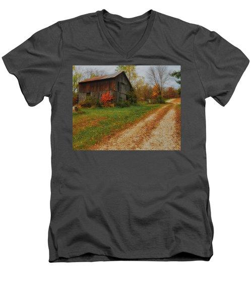 Mystical Country Lane  Men's V-Neck T-Shirt
