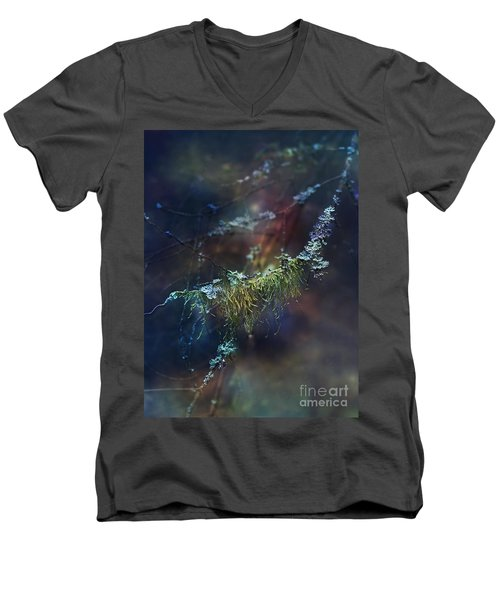Mystical Moss - Series 2/2 Men's V-Neck T-Shirt by Agnieszka Mlicka