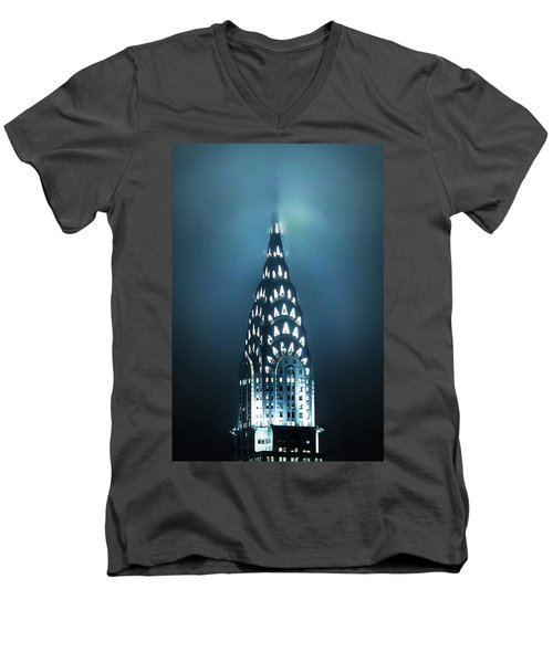 Mystical Spires Men's V-Neck T-Shirt by Az Jackson