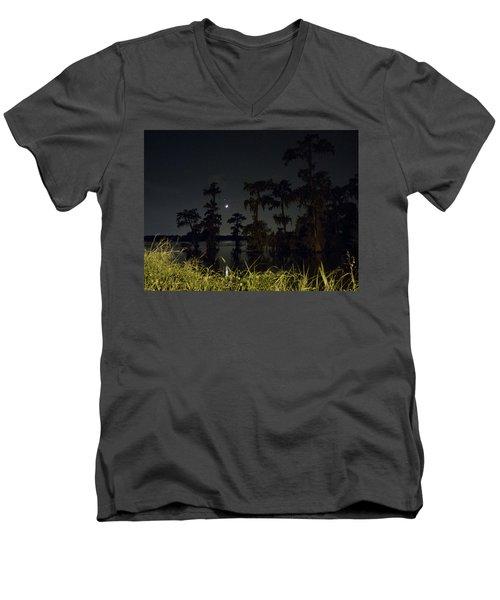 Mystique Of A Cajun Night Men's V-Neck T-Shirt by Kimo Fernandez