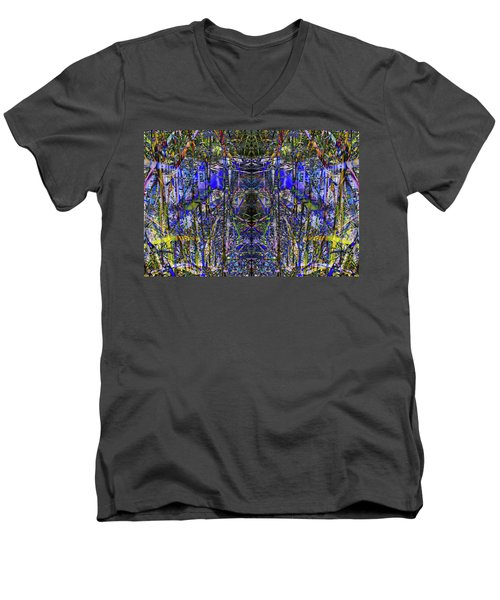Winter Walk In The Weeds Men's V-Neck T-Shirt