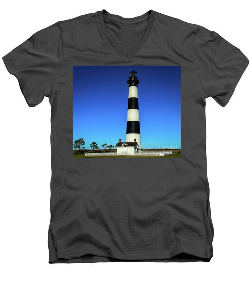 Nags Head Lighthouse Men's V-Neck T-Shirt
