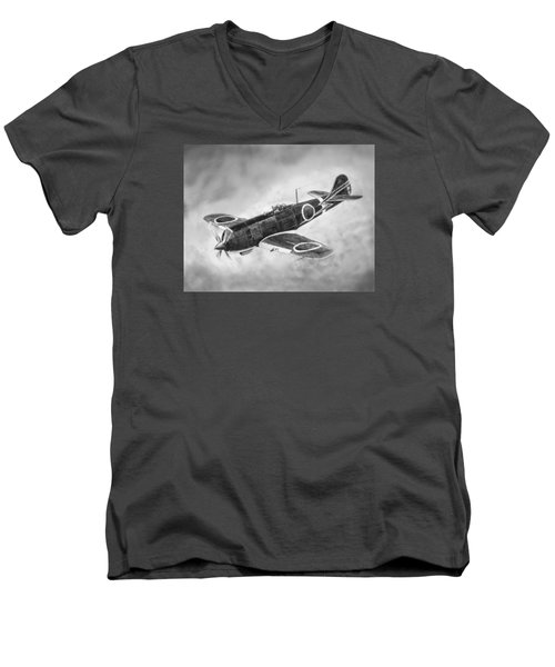 Nakajima Ki84 Men's V-Neck T-Shirt by Douglas Castleman