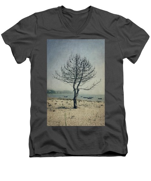 Men's V-Neck T-Shirt featuring the photograph Naked Tree by Marco Oliveira