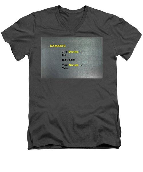 Namaste #1 Men's V-Neck T-Shirt