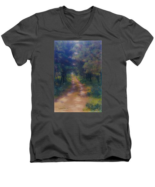 Nantucket Paths #1 Men's V-Neck T-Shirt