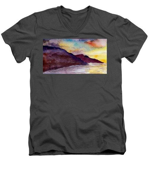 Napali Coast Kauai Hawaii Men's V-Neck T-Shirt