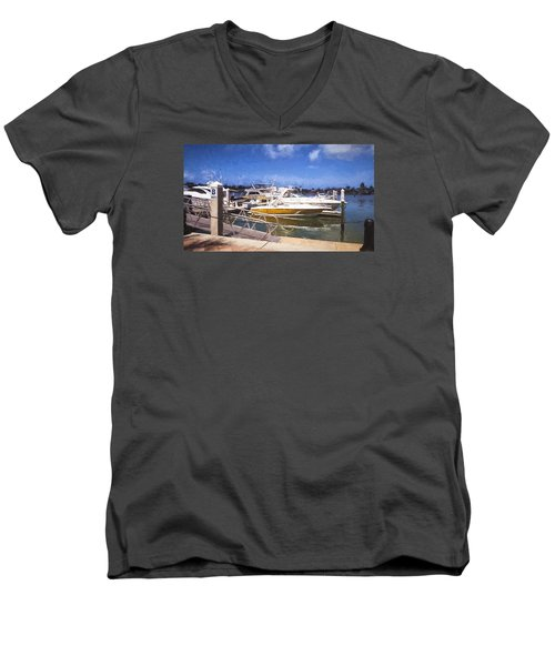 Naples Dock Men's V-Neck T-Shirt