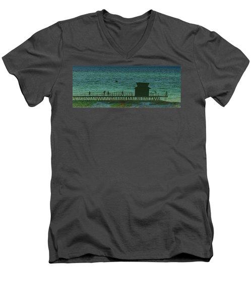 Naples Pier Men's V-Neck T-Shirt