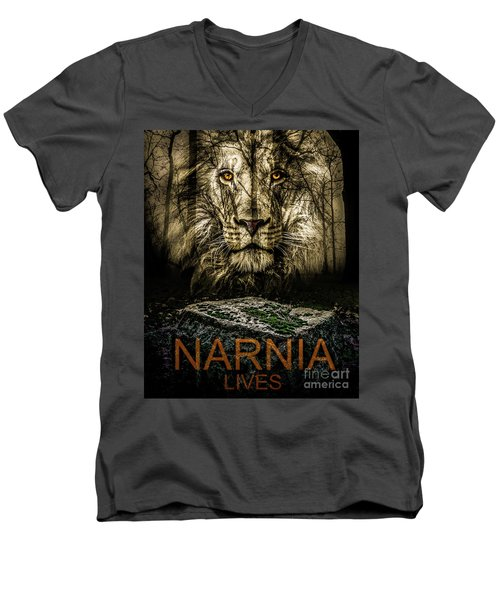 Narnia Lives Men's V-Neck T-Shirt