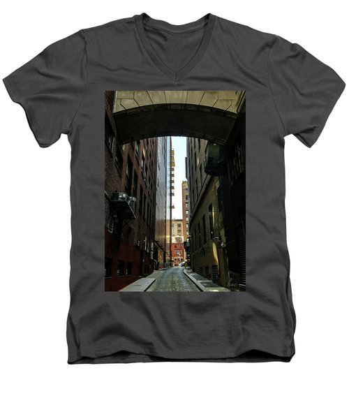 Narrow Streets Of Cobble Stone Men's V-Neck T-Shirt