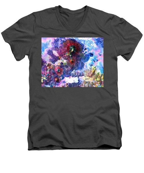 Nasa Image-andes Mts., Chile - Bolivia-2  Men's V-Neck T-Shirt