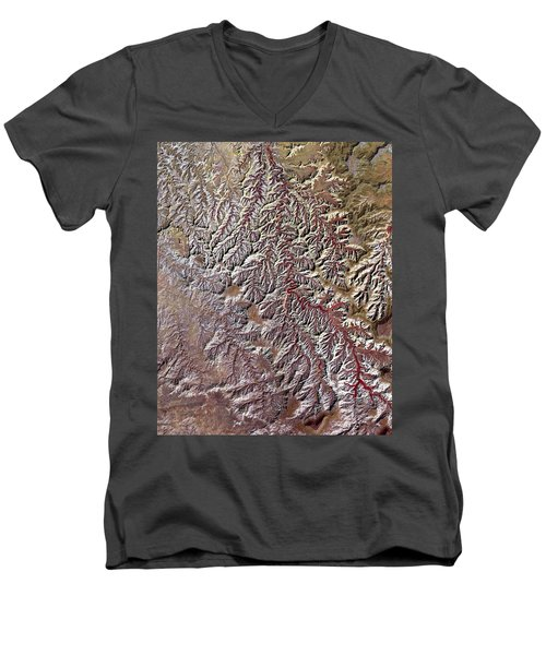 Nasa Image-canyonlands National Park, Utah-2 Men's V-Neck T-Shirt