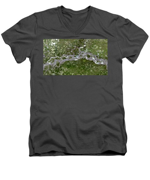 Nasa Image-fort Yukon, Alaska-2 Men's V-Neck T-Shirt