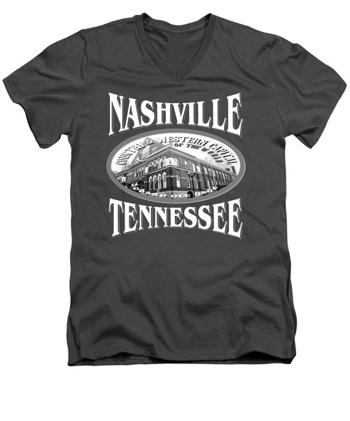 Nashville Tennessee Design Men's V-Neck T-Shirt