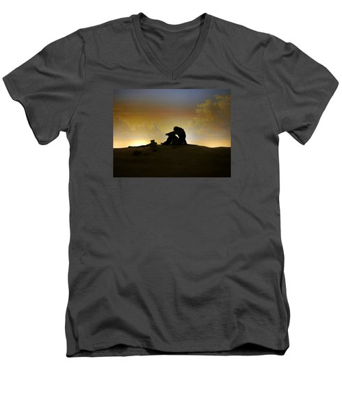 Men's V-Neck T-Shirt featuring the photograph Nassau - Marooned by Richard Reeve