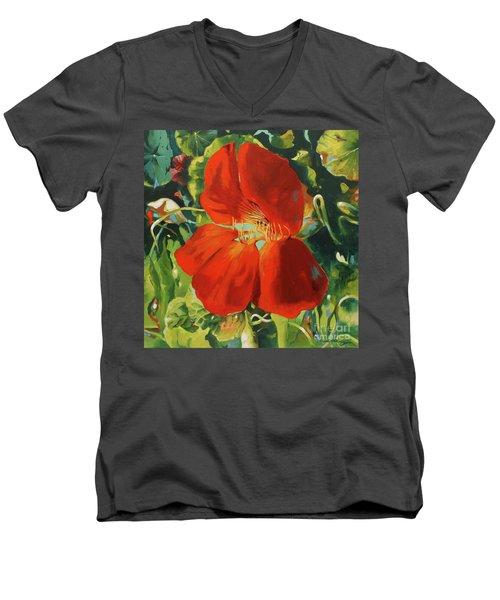 Nasturtium Men's V-Neck T-Shirt