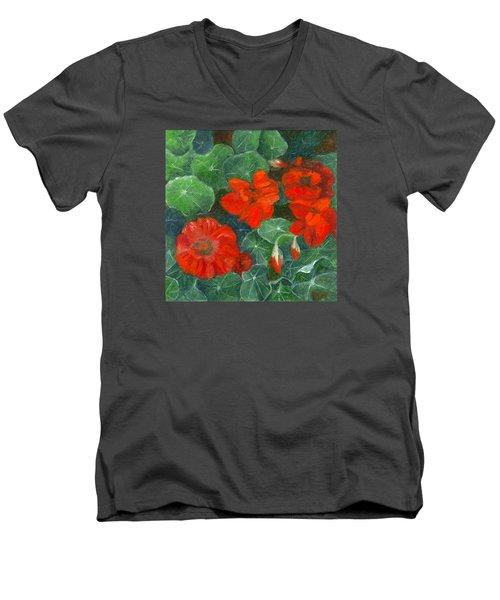 Nasturtiums Men's V-Neck T-Shirt