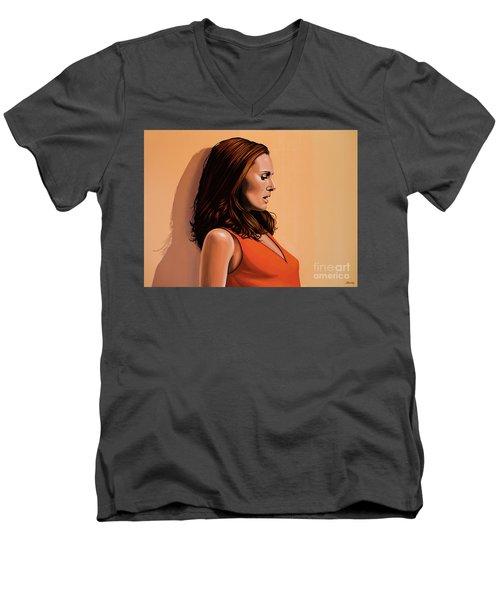 Natalie Portman 2 Men's V-Neck T-Shirt by Paul Meijering