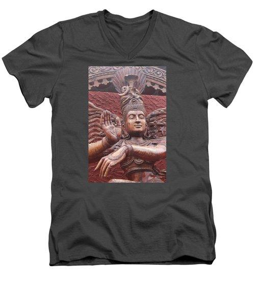 Nataraj, Fort Kochi Men's V-Neck T-Shirt by Jennifer Mazzucco
