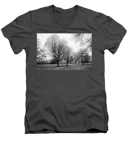 Men's V-Neck T-Shirt featuring the photograph Natio Parkway by Angi Parks