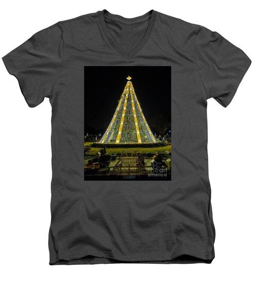 National Christmas Tree #2 Men's V-Neck T-Shirt