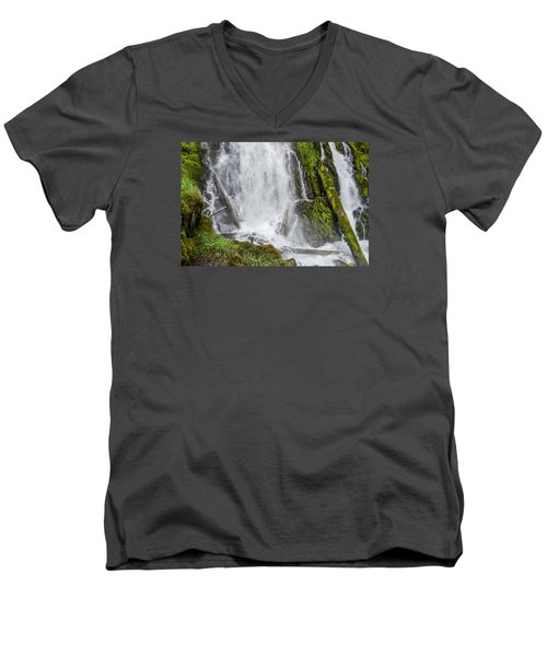 National Falls 2 Men's V-Neck T-Shirt by Greg Nyquist