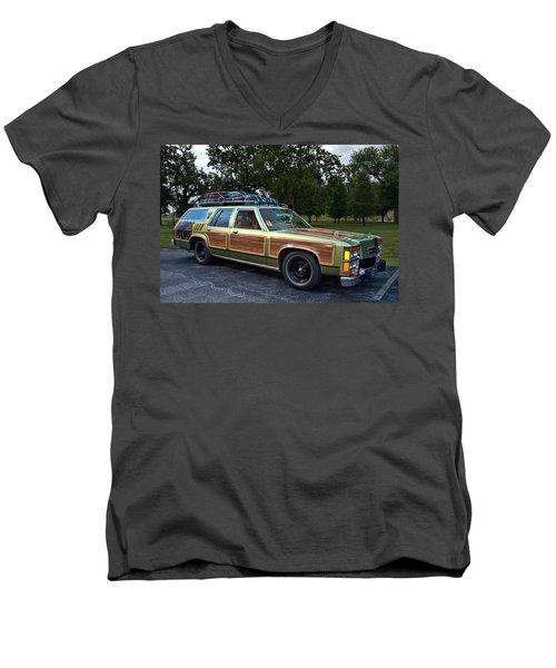National Lampoons Vacation Truckster Replica Men's V-Neck T-Shirt