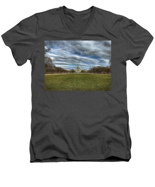 National Mall Men's V-Neck T-Shirt