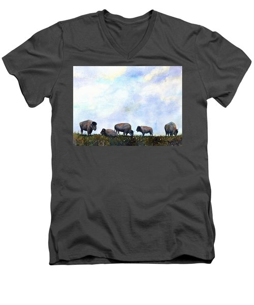National Treasure - Bison Men's V-Neck T-Shirt