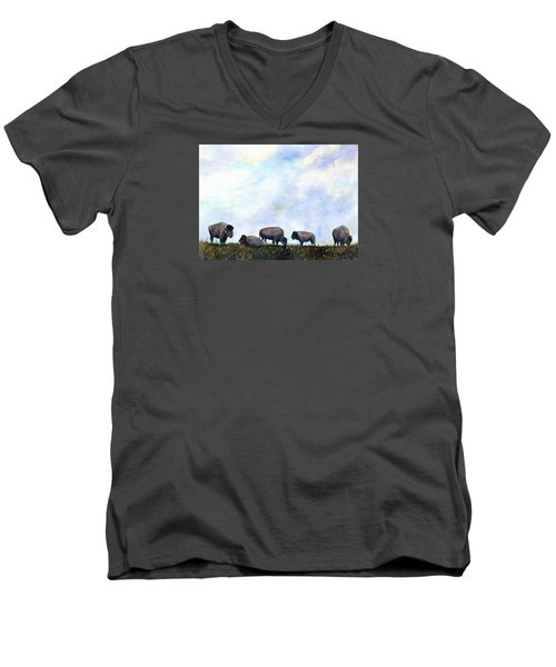 National Treasure - Bison Men's V-Neck T-Shirt
