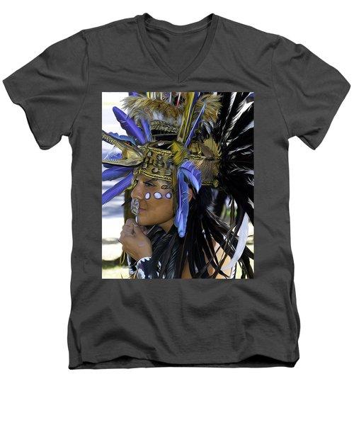 Native Blue Men's V-Neck T-Shirt