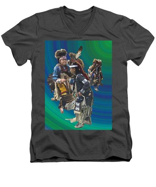 Native Children Entrance Men's V-Neck T-Shirt by Audrey Robillard