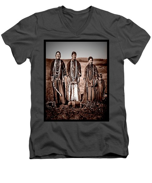 Men's V-Neck T-Shirt featuring the photograph Native Pride by Mark Allen