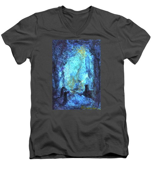 Nativity Men's V-Neck T-Shirt by Mary Sullivan