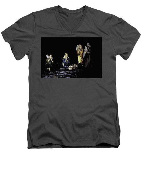 Nativity Scene Men's V-Neck T-Shirt