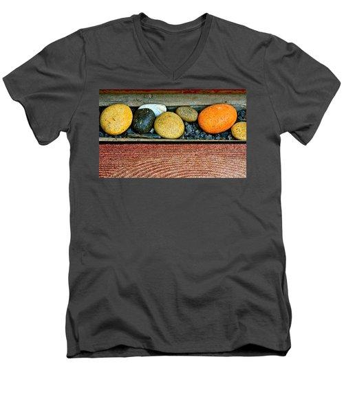 Natural Boundaries Men's V-Neck T-Shirt by Karon Melillo DeVega